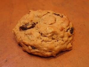 Peanut butter oatmeal raisin cookie