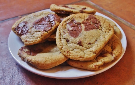 Chocolate sea salt and vanilla pod cookies